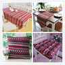 Red Vintage Bohemian Lace Tablecloth Boho Kitchen Dining Table Cloth Cover
