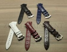20MM 22MM Black White Blue  Leather Watch Band Strap Fits For Patek Philippe