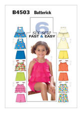 Butterick Sewing Pattern 4503 B4503 Girls Childs 6-8 Easy Tops Skort Shorts
