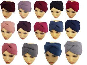 Ladies Women Girls Knitted Winter Ear Warmer Twist Knot Bow Wide Hair Head Band