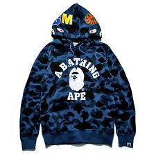 Men Hoodie Coat A Bathing Ape Bape Shark Head Camo Jacket Pullover Sweatshirt