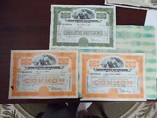 United Printers And Publishers 3 Stock Certificates A 5 , 20 And 15 Share