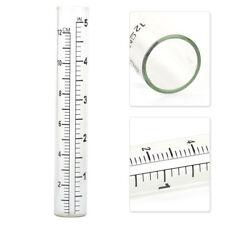 "5"" inch Capacity Glass Rain Gauge Tube Rainfall Measure Pipe Outdoor Home Garden"