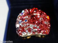 Swarovski Chic Multi RED Ring Crystal Jewelry - Small 52 (5.25)