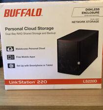 Buffalo LinkStation 220 2-Drive 2TB RAID Personal Cloud Storage NAS Drive2x 1Tb