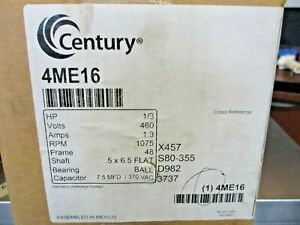 NEW SEALED CENTURY 4ME16 1/3HP 460V 1075RPM CONDENSER FAN MOTOR FEH1036SF