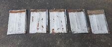 "5 Vintage tin Barn Roof Shingles 9"" x 14""Reduced Sale"