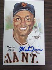 Monte Irvin Autograph / Signed Perez Steele Postcard New York Giants