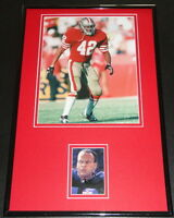 Ronnie Lott Signed Framed 11x17 Photo Display 49ers