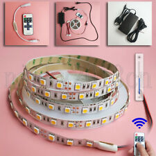 High Bright 5M 5050 LED Strip Light 300LEDs IP20 12V Power Supply Dimmer Remote