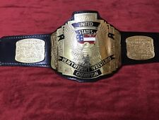 WCW UNITED STATES US CHAMPIONSHIP BELT IN 4MM BRASS PLATES FREE SHIPPING D H L !