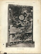 Stampa antica BUFFET MOBILE LACCATO CINESE CINA CHINA 1922 Antique print T. 6