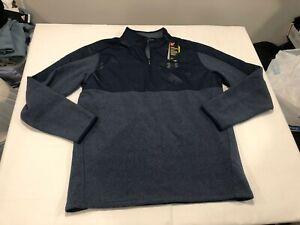 NWT $70.00 Under Armour Mens Coldgear Infrared 1/2 Zip Shirt Navy Blue Sz MEDIUM