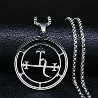 Satan Key Lilith Goetia Demon Seal Pendant Necklace Witch Wicca Occult Satanism