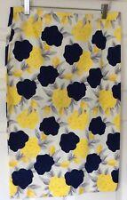 Dickins & Jones Floral Pattern Summer Cotton Skirt UK 12 Blue/Yellow