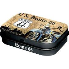 ROUTE 66 - Map - Pfefferminzpastillen Pillendose - Neu OVP Biker Chopper