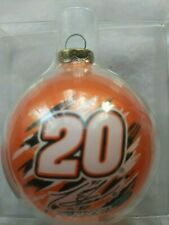 TONY STEWART #20 NASCAR RACE CAR BALL CHRISTMAS ORNAMENT