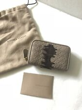 NEW Genuine Bottega Veneta Intrecciato Zip Around Wallet/Coin Purse - Taupe