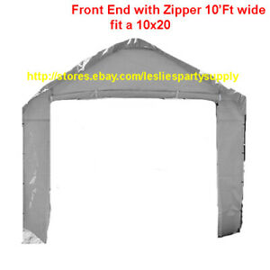 10' Valance Front End Panel  with zipper (1pc./pack)