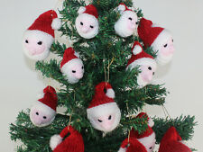 PRINTED KNITTING INSTRUCTIONS-SANTA HEAD CHRISTMAS TREE BAUBLES KNITTING PATTERN