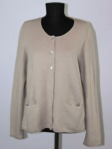 Gudrun Sjoden womens cotton beige cardigan robe Size - L