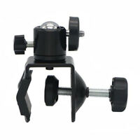 C Clamp Desktop Holder Tripod Ball Head Mount Fit Camera LED Video Light Monitor