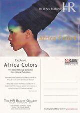 HELENA RUBINSTEIN AFRICA COLORS ADVERTISING UNUSED COLOUR POSTCARD