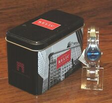 Relic Folio (ZR33422) Silver Stainless Steel Wrist Watch with Blue Analog Face!