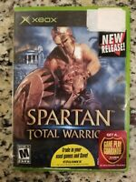 SPARTAN TOTAL WARRIOR  MICROSOFT XBOX VIDEO GAME NO MANUAL FREE SHIPPING