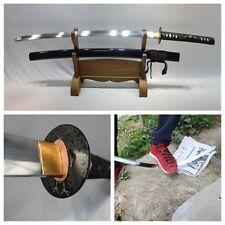 Handmade Japanese Samurai sword manganese steel KATANA sharp blade ready fight