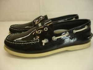Men's 9 M Sperry Top-Sider Authentic Original Laceless Slip-On Boat Shoes Black