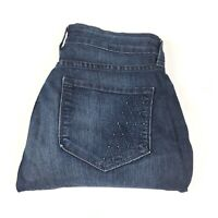 Not Your Daughters Womens Skinny Blue Thin Denim Jeans Size 10