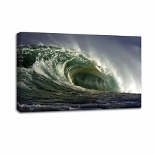 Canvas Print Art High Green Waves Picture Wall Art Painting Home Decor-No Frame
