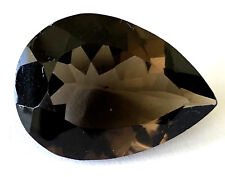 PEAR Shape 21.58 Ct Natural Smoky Quartz Loose Gemstone Beauty!