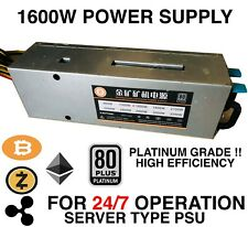 POWER SUPPLY 1600w ( Server type PSU ) BITCOIN ANTMINER HEAVY DUTY !! 24/7
