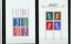 Estonia 1938/39 Mini Sheets MNH x 2 (Tro 584s