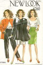 1980's VTG New Look Misses' Jacket,Pants,Skirt Pattern 6260 Size 8-18 UNCUT