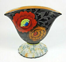 Unique Hand Painted Fan Vase, Made in Japan