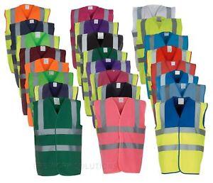 Yoko Hi Vis Vest Visibility Work Wear Waistcoat Jacket HVW100 - Colours