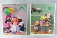 Vintage Cabbage Patch Kids Frame Tray Puzzle 25 Piece Birthday Bath 1984 Set 2