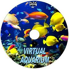 VIRTUAL FISH AQUARIUM VIDEO DVD10  GREAT RELAXING SCENES TO VIEW WITH SOUNDS NEW
