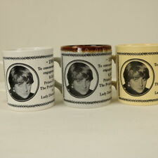 3 Commemorative Mugs - Engagement of Prince Charles and Lady Diana Spencer 1981