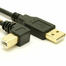 USB 2.0 A to Right Angle B Cable - High-Flex