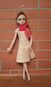 A viscose dress with a red scarf - for  Ellowyne Wilde