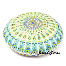 White Yellow Home Decorative Floor Pillow Cushion Cover Mandala- 32""