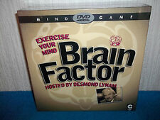 BRAIN FACTOR - DVD TRIVIA GAME - EXERCISE YOUR MIND - DES LYNAM - NEW & SEALED