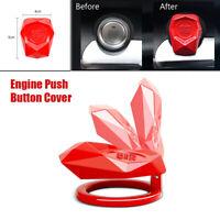 rosso 1 pz Auto Start Button Cover Auto One-Key Engine Start Stop Accensione Push Button Cover Decorativo Universale Antigraffio