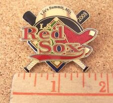 "Lee's Summit, Mo 2008 L.S. Red Sox Little League lapel pin Boston 1.75"" x 1.6"""