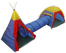 KIDS ADVENTURE TUNNEL PLAY TENT OUTDOOR INDOOR TOYS GARDEN CHILDREN NEW