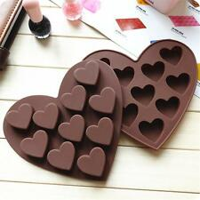 New Feart Silicone Fondant Mould Cake Candy Jelly Chocolate Muffin Baking MoldE